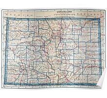 Vintage Map of Colorado (1921) Poster