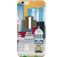 Montreal, Canada - Skyline Illustration by Loose Petals iPhone Case/Skin