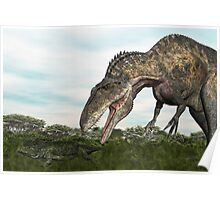 Acrocanthosaurus and Uberabasuchus Poster