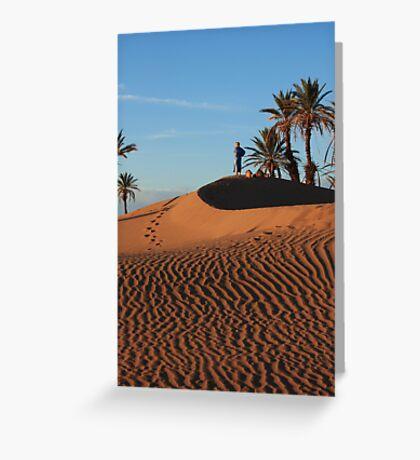Sand dune Sunset Greeting Card