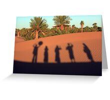 Desert Shadow Dancing Greeting Card