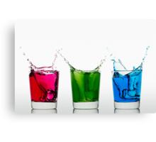 RGB Splash Canvas Print