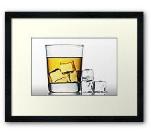 glass of whisky on the rocks Framed Print