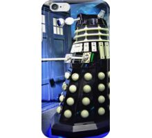The TARDIS and a Dalek iPhone Case/Skin