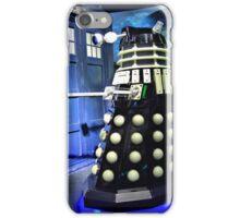 The TARDIS and a Dalek iPhone Case/Skin