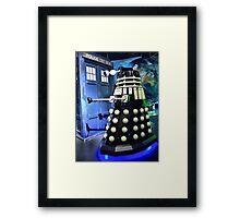 The TARDIS and a Dalek Framed Print