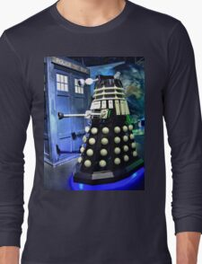 The TARDIS and a Dalek Long Sleeve T-Shirt