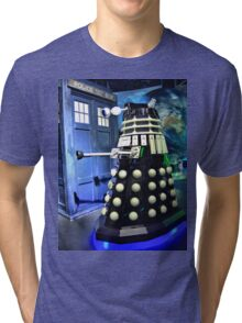 The TARDIS and a Dalek Tri-blend T-Shirt