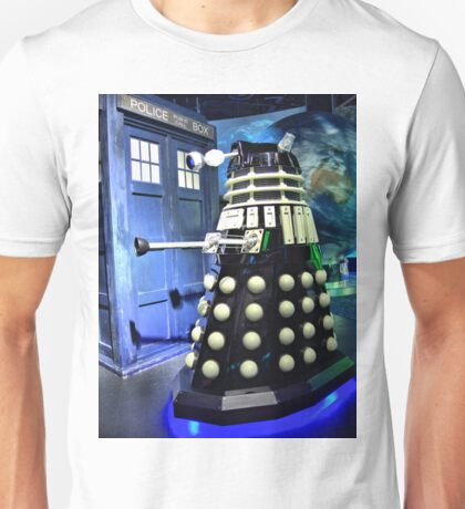 The TARDIS and a Dalek Unisex T-Shirt