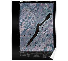USGS Topo Map Washington State WA Rock Lake 20110401 TM Inverted Poster