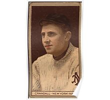 Benjamin K Edwards Collection Otis Crandall New York Giants baseball card portrait 001 Poster