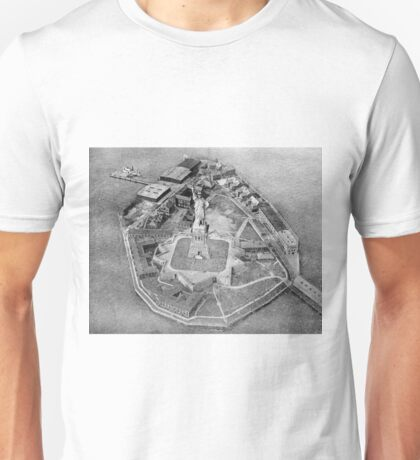 Liberty Island Black and White Photograph (1921) Unisex T-Shirt