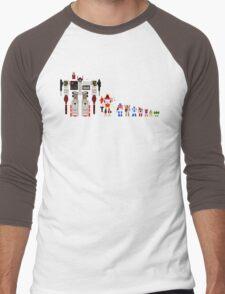 8 bit robots Men's Baseball ¾ T-Shirt