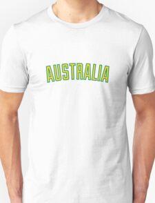 Australia Green and Gold Unisex T-Shirt