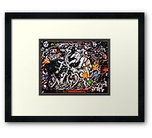 Trolling The Webs Framed Print