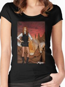 Amy Pond & Gallifrey V1 Women's Fitted Scoop T-Shirt
