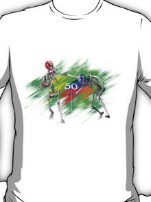Skeletons playing football T-Shirt