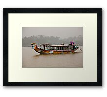 Misty Dragon boat Framed Print