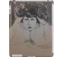 Clara, White Fur iPad Case/Skin