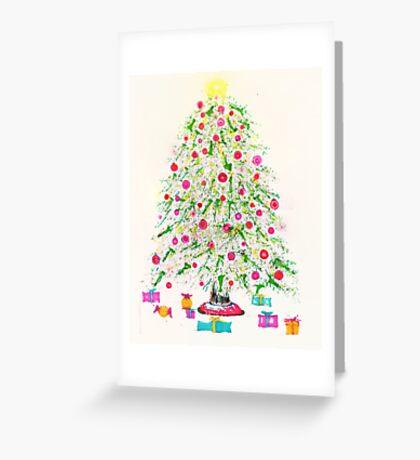 Christmas tree 2011 Greeting Card