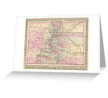 Vintage Map of Colorado (1880) Greeting Card