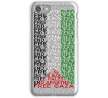 free palestine with flag iPhone Case/Skin