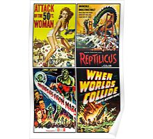 1950s Sci-Fi Poster Collection #2 Poster