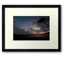 Sunset on Brennecke Beach Framed Print