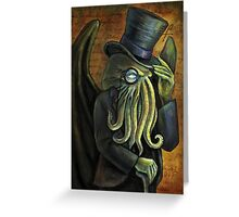 Dapper Cthulhu Greeting Card