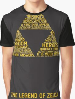 Legend of Zelda Typography Graphic T-Shirt