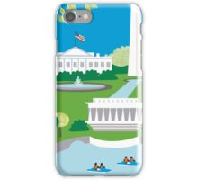Washington DC - Skyline Illustration by Loose Petals iPhone Case/Skin