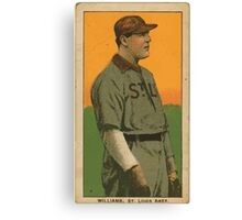 Benjamin K Edwards Collection Jimmy Williams St Louis Browns baseball card portrait Canvas Print