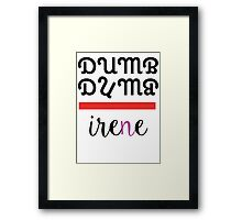 Red Velvet Irene Dumb Dumb 2 Framed Print