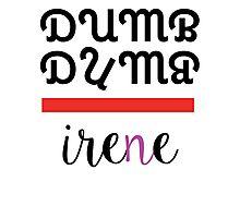Red Velvet Irene Dumb Dumb 2 Photographic Print