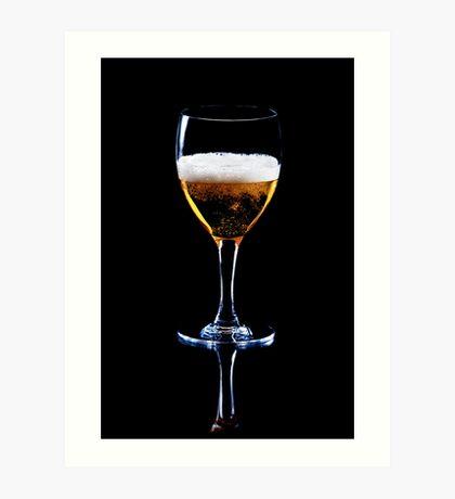 Glass of Beer Art Print