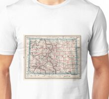 Colorado Counties Map (1893) Unisex T-Shirt