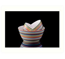 Stack of bowls Art Print
