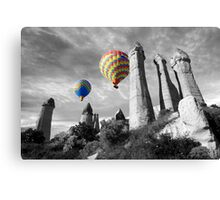 Hot Air Balloons Over Capadoccia Turkey - 2 Canvas Print