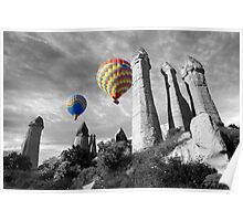 Hot Air Balloons Over Capadoccia Turkey - 2 Poster