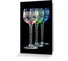 Colorful Glasses Greeting Card