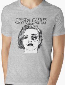 Crystal Castles Shirt RETRO Mens V-Neck T-Shirt