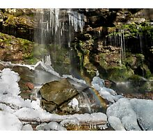 Icy Jacoby Falls Rainbow Photographic Print
