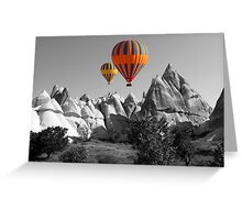 Hot Air Balloons Over Capadoccia Turkey - 5 Greeting Card