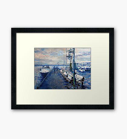 Walking Toward Clouds Framed Print