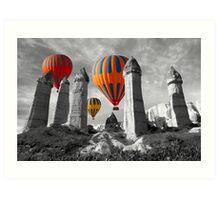 Hot Air Balloons Over Capadoccia Turkey - 6 Art Print