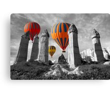 Hot Air Balloons Over Capadoccia Turkey - 6 Canvas Print
