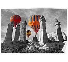 Hot Air Balloons Over Capadoccia Turkey - 6 Poster