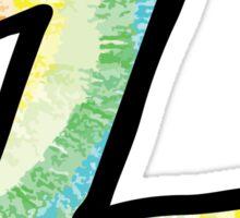 """Tie Dye """"Z"""" Sticker"""