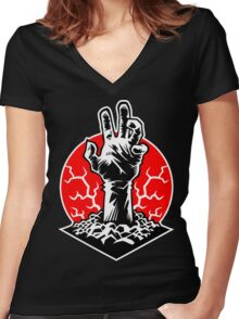 Hand of Doom Women's Fitted V-Neck T-Shirt