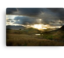 Sunset in Connemara Canvas Print